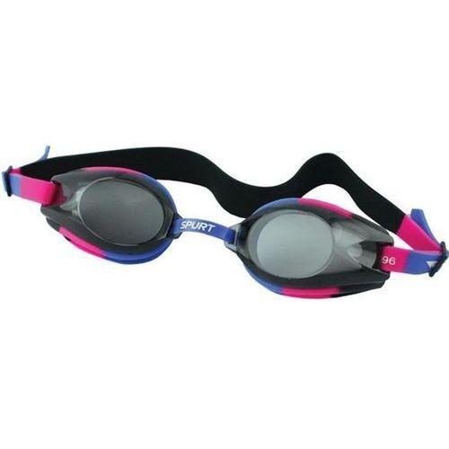 Okularki pływackie 1200 af fioletowo-różowo-czarny marki Spurt