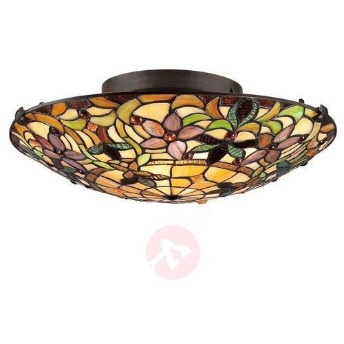 Lampa wisząca witrażowa TIFFANY KAMI QZ/KAMI/P - Elstead Lighting - Rabat w koszyku (5024005211310)