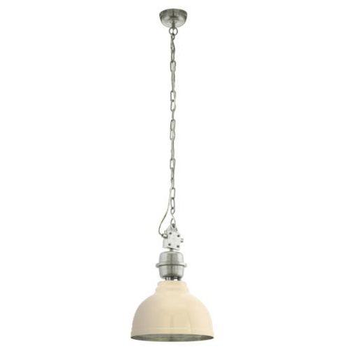 Eglo Lampa wisząca vintage grantham beżowy, 49172