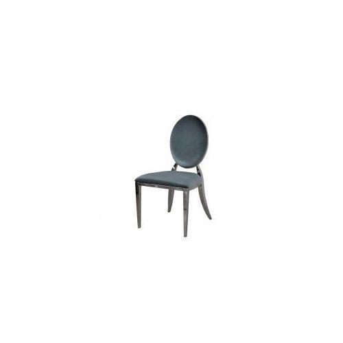 Krzesło Ludwik glamour Dark Silver - nowoczesne krzesło tapicerowane (5908273397177)