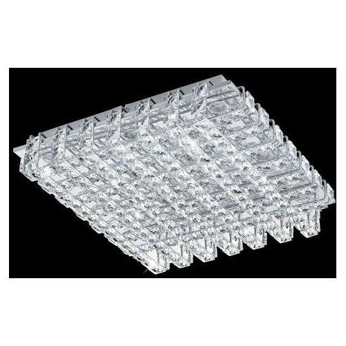 Eglo Plafon lampa sufitowa lonzaso 94314 kryształowa oprawa kwadratowa led 39,6w chrom przezroczysty (9002759943141)