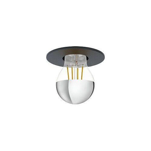 saluzzo 99061 plafon lampa sufitowa 1x40w e27 czarny marki Eglo