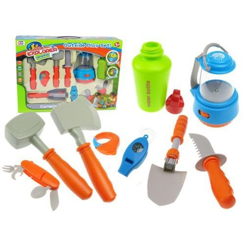 Kindersafe Akcesoria biwakowe dla dzieci 10 elementów 008-80e (5902921964865)