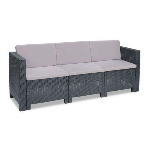Trzyosobowa technorattanowa sofa colorado antracyt marki Bica