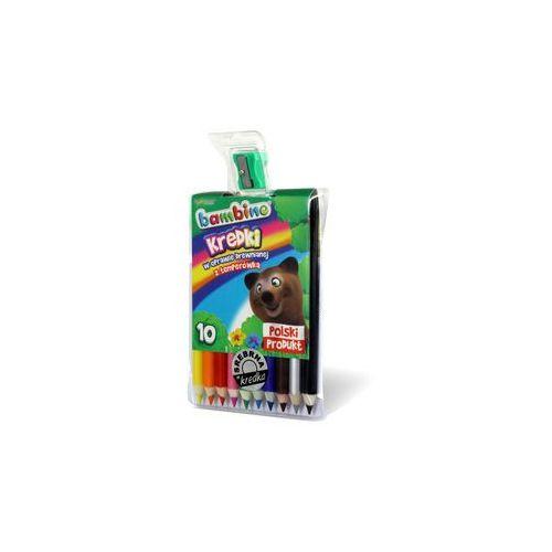 Kredki Bambino 10 kolorów grube+temperówka, 0540