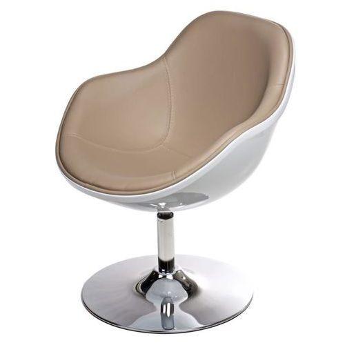 D2.design Fotel pezzo - beżowy   biały
