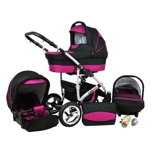 Sun Baby Wózek wielofunkcyjny Largo 3w1, fiolet (2010962850023)