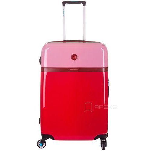 977f448bbe0d3 tri colors walizka lekka średnia podróżna 65 cm / czerwona - cashmere rose  marki Bg berlin