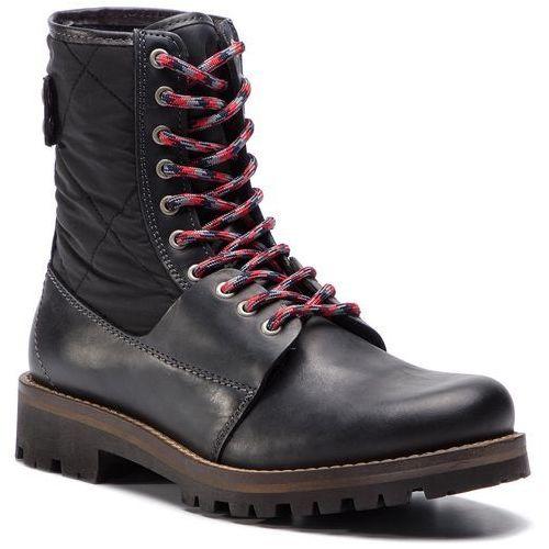 Trapery TOMMY HILFIGER - High Material Mix Winter Boot FM0FM02017 Black 990, kolor czarny