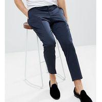 tapered trouser with mini print - navy marki Heart & dagger