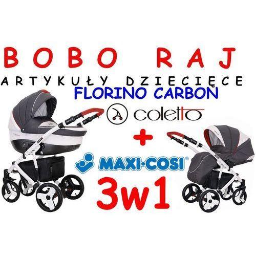 Coletto Wózek głęboko - spacerowy firmy  model florino carbon 3w1 fotelik maxi-cosi model pebble