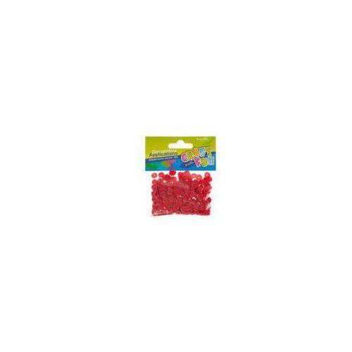 Cekiny metaliczne kółka 8mm czerwone marki Craft with fun