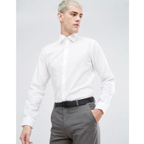 Selected Homme Water Repellent Easy Iron Regular Fit Shirt - White, kolor biały