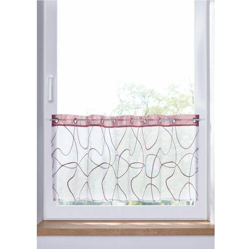 Bonprix Zazdrostka z haftem biało-dymny lila