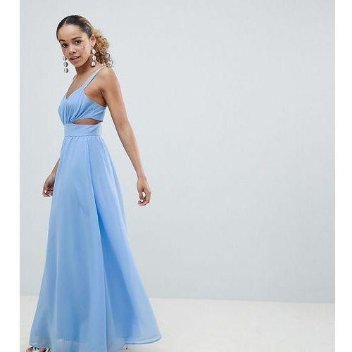 Asos design petite side cut out maxi dress with cami straps - blue marki Asos petite