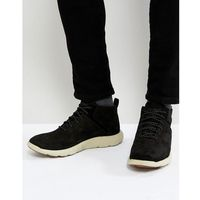 flyroam super ox nubuck trainers - black, Timberland