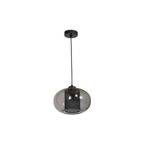 Lampa wisząca Luminex Dori 8250 lampa sufitowa 1x60W E27 czarna / dymione szkło (5907565982503)
