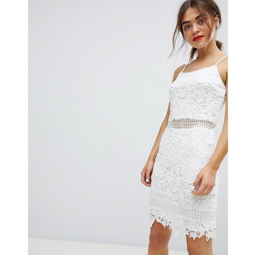 Parisian lace cami dress - white