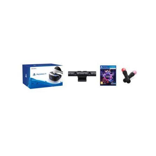 Gogle Wirtualnej Rzeczywistości SONY PlayStation VR + PlayStation Camera V2 + VR Worlds + Zestaw PlayStation Move Double Motion Controller