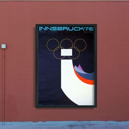 Plakaty w stylu retro plakaty w stylu retro zimowa gra olimpijska w innsbrucku marki Vintageposteria.pl