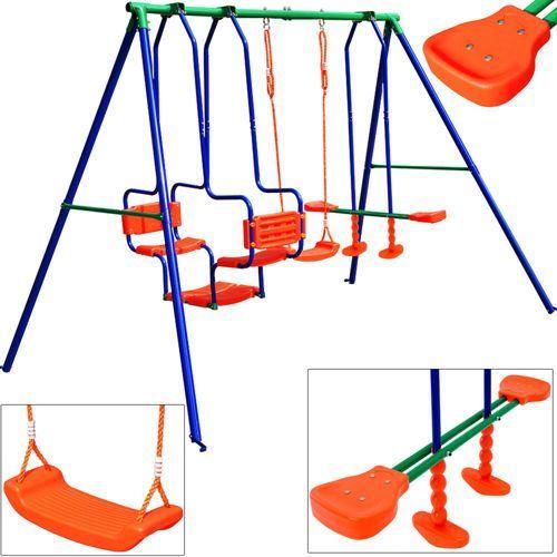 Wideshop Huśtawka ogrodowa dla dzieci plac zabaw 3w1