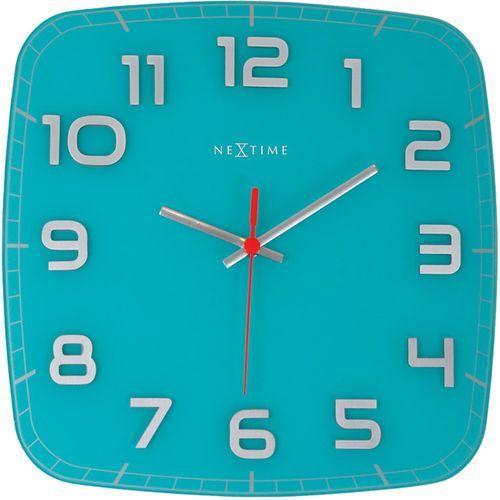 Zegar ścienny Classy Nextime 30 x 30 cm, turkusowy (8816 TQ), kolor niebieski