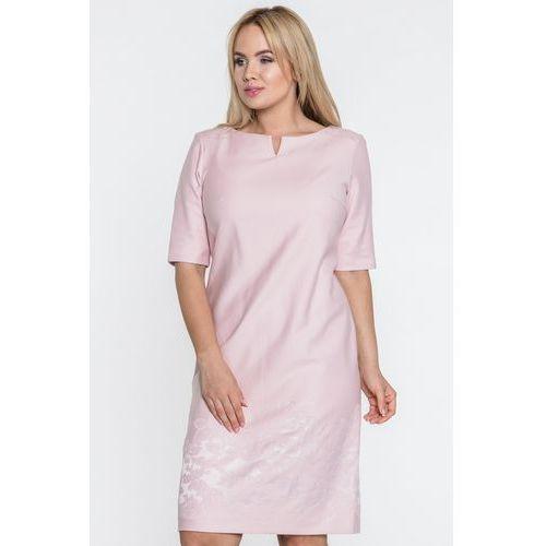 Sukienka w pudrowym różu - GaPa Fashion, kolor różowy