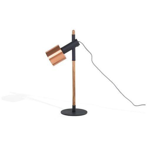 Beliani Lampa biurowa czarna - stołowa - nocna - gabinetowa - owens (4260580921157)