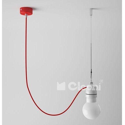lampa wisząca NEA 1A z czerwonym przewodem, CLEONI 1275A+