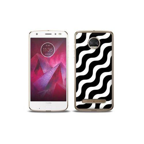 etuo Fantastic Case - Motorola Moto G6 Play - etui na telefon Fantastic Case - biało-czarna fala