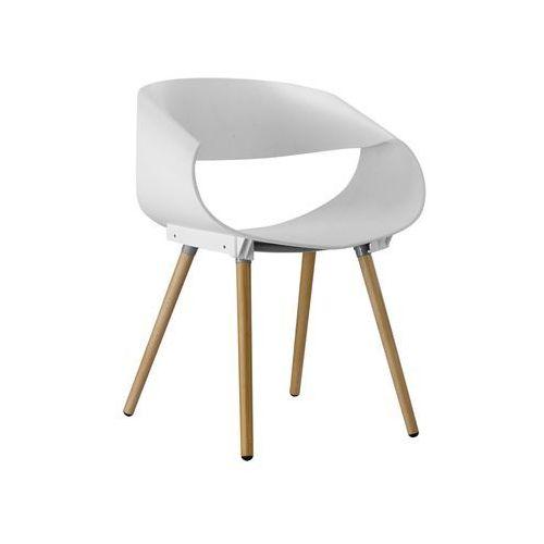 Krzesło Cosmo white buk, kolor biały
