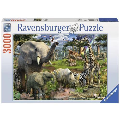 Puzzle Afrykańskie zwierzęta 3000 - Ravensburger