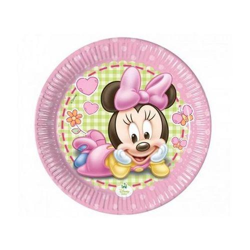Talerzyki urodzinowe mała minnie - 20 cm - 8 szt. marki Procos disney