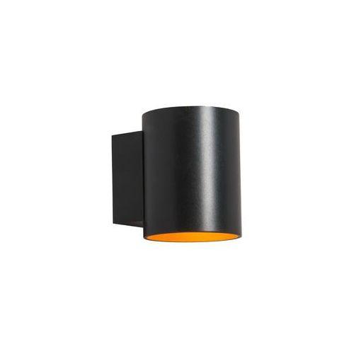 Zumaline kinkiet/lampa ścienna sola wl round black-gold czarny 91061 (2011005668551)