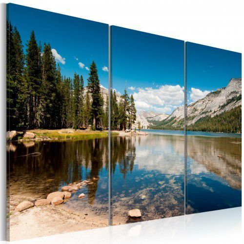 Obraz - góry, drzewa i krystalicznie czyste jezioro marki Artgeist