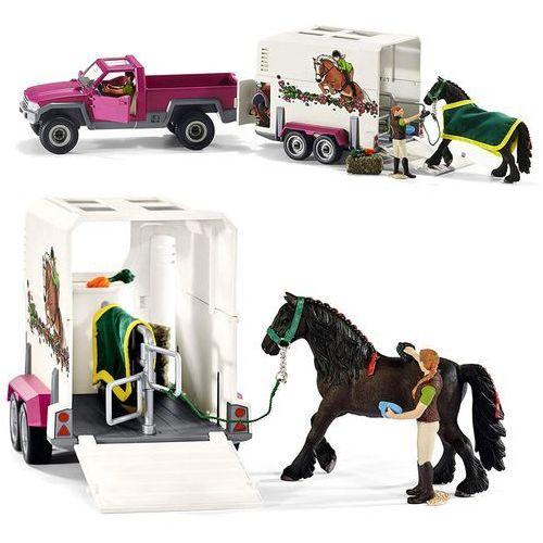 Schleich Półciężarówka z koniem i przyczepą (4055744005626)