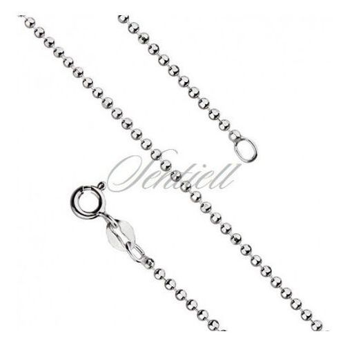 Silver (925) ball chain necklace for military tags - bead8l180 marki Sentiell