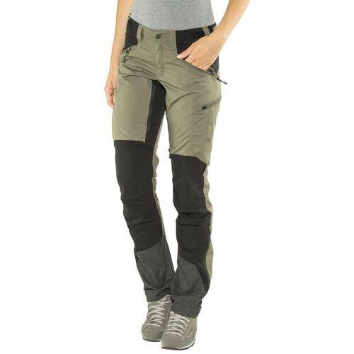 Lundhags makke spodnie długie kobiety czarny/oliwkowy 38 2018 spodnie turystyczne
