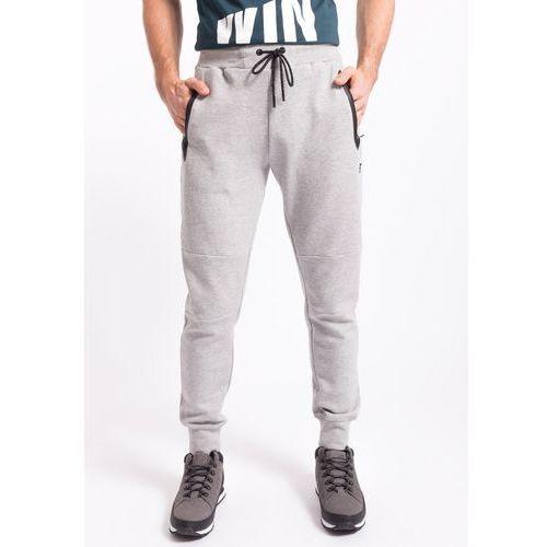 Spodnie dresowe męskie SPMD255z - jasny szary melanż, dresowe