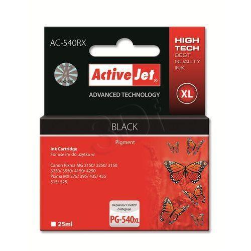 Tusz ActiveJet AC-540RX czarny do drukarki Canon - zamiennik Canon PG-540XL - sprawdź w wybranym sklepie