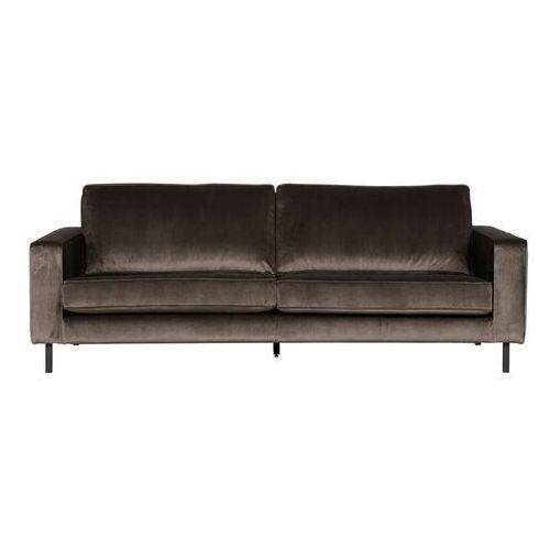Woood sofa trzyosobowa robin zielona aksamitna 340366-g