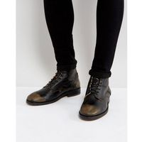 H by hudson mckendrick leather lace up boots - black