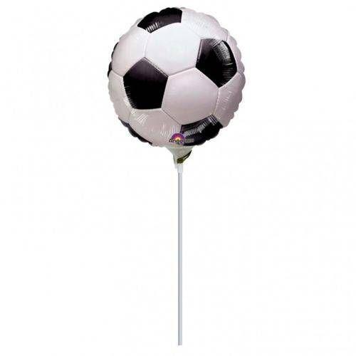 Balon foliowy do patyka Piłka Nożna - 23 cm - 1 szt.