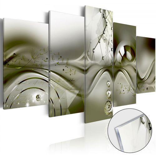 Obraz na szkle akrylowym - zielona konfiguracja [glass] marki Artgeist
