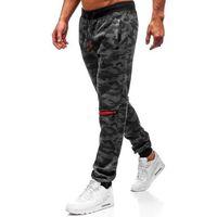 Spodnie męskie dresowe joggery grafitowe denley 55028 marki J.style