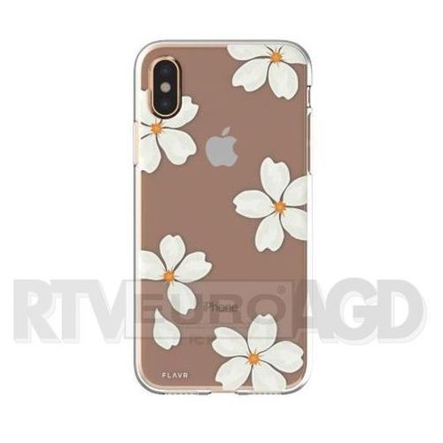 Flavr Etui iplate white petals do apple iphone x wielokolorowy (30041)