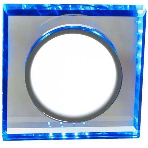Candellux Oprawa sufitowa oczko halogenowe ssp-22 ch/tr+bl 1x8w+2,1 led ring chrom,niebieski 2263892