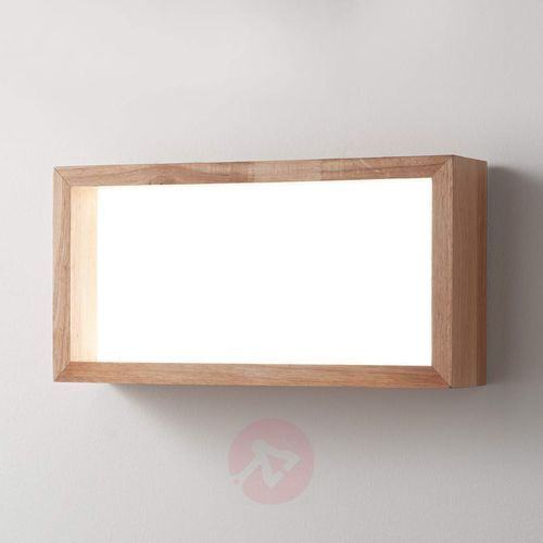 Fabas luce Ozdobny kinkiet led window, rama z drewna