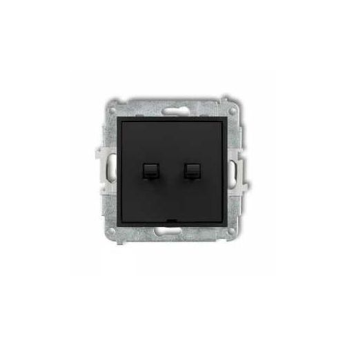 Przycisk świecznikowy Karlik Mini 12MWPUS-44.1 w stylu amerykańskim czarny mat, 12MWPUS-44.1