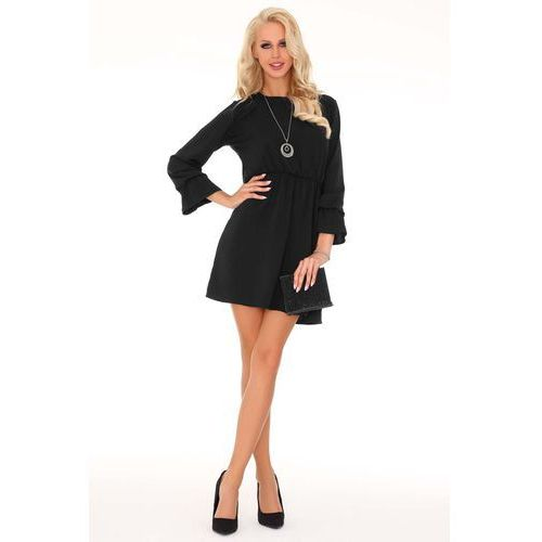 c69acf8661 Czarna Rozkloszowana Sukienka z Szerokim... Producent Merribel  Rodzaj  rozkloszowana ...
